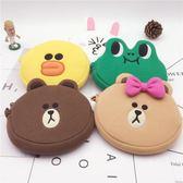 可愛卡包line布朗熊卡通硬幣包莎莉雞可妮兔可愛零錢包卡包收納包洛麗的雜貨鋪