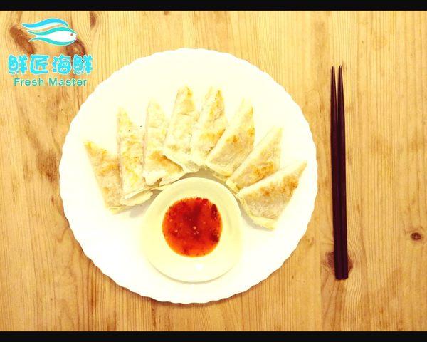【鮮匠海鮮】【手作月亮蝦餅(附醬)(210g)】,手工製作,無添加不必要的添加物滿冷凍食品