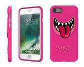 【唐吉】SwitchEasy Monster iPhone 7, 3D笑臉怪獸保護殼, 粉皮
