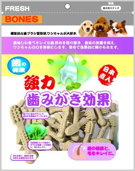*KING WANG*【日本製】強力日本FRESH BONES潔牙骨(海藻.葉綠素牙刷型.雙效.葉綠螺旋型