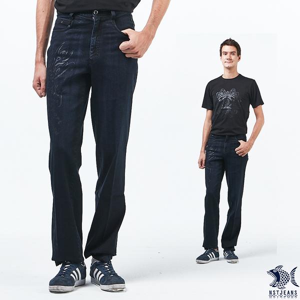 【NST Jeans】 銀色刺青印花 原色重磅數牛仔男褲(中腰) 390(5710) 台製 紳士 直筒
