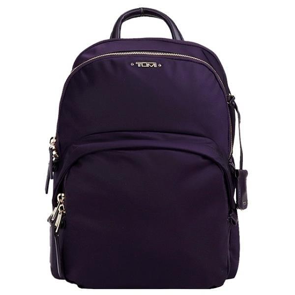 【南紡購物中心】TUMI  VOYAGEUR DORI系列尼龍12吋筆電後背包(黑莓紫)