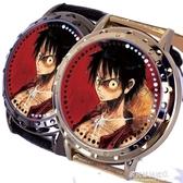 手錶-onepiece周邊 路飛 索隆 艾斯 喬巴 羅賓動漫觸屏防水手錶 多麗絲