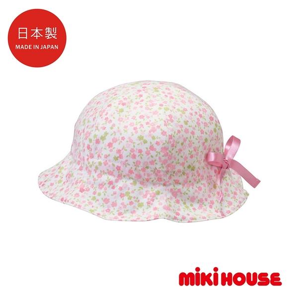 MIKI HOUSE BABY 日本製 抗UV雙面小花朶遮陽帽