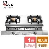 【喜特麗】晶焱雙口崁入爐JT GU288S 天然瓦斯