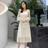 大韓訂製長袖洋裝韓超仙連身裙打底襯裙宴會小禮服網紗裙