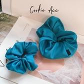 促銷全場八五折 韓國新款藍色日系簡約風大腸發圈丸子頭裝飾皮筋發繩