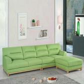 【YFS】帝摩斯綠色亞麻布獨立筒沙發-280x93x95cm
