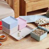 塑料分格帶蓋糖果盒家用創意現代零食乾果盤『米菲良品』