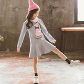 兒童洋裝中大童長袖洋裝連身裙 優樂居
