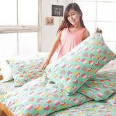 搖粒絨 / 雙人【幸福烘焙】床包兩用毯組  頂級搖粒絨  戀家小舖台灣製AAW215