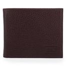 ARMANI COLLEZIONI經典荔枝紋皮革八卡短夾(酒紅色)102401-1