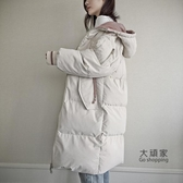 長款棉服女 羽絨棉服女冬季棉襖年新款韓版寬鬆中長款學生加厚棉衣外套潮T 4色S-XL