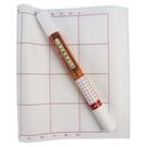 32格書法紙 白宣紙 書法比賽用紙 4排(橘)/一小捲6張入{定35} 天成 白毛邊紙
