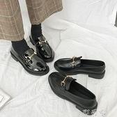 chic一腳蹬小皮鞋女新款秋冬季復古單鞋子英倫風韓版百搭ins 【618特惠】