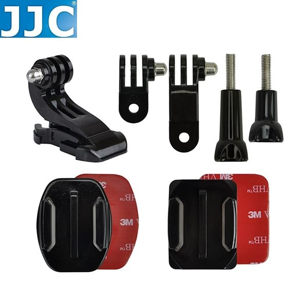 又敗家JJC安全帽前置用架GOPRO攝影機配件GP-J16含黏著座側向固定座J型扣適Hero英雄4黑版3+銀版2錄影