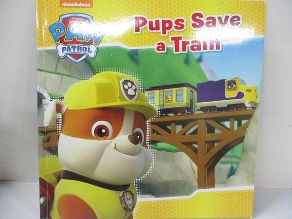 【書寶二手書T3/少年童書_KE7】Pups Save a Train_PAW Patrol