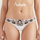 Aubade安達魯西亞狂想S-XL三角褲(黑花白)QC