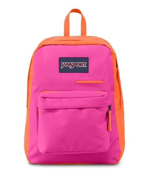 JANSPORT 電腦背包系列-螢光粉紅-41550(亦可容納15吋筆電)