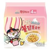 韓國 SamYang 三養 火辣雞肉鐵板炒麵 粉色雙倍奶油(140gx5)【庫奇小舖】袋裝