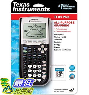 [9美國直購] Texas 計算器 Instruments TI-84 Plus Graphics Calculator, Black