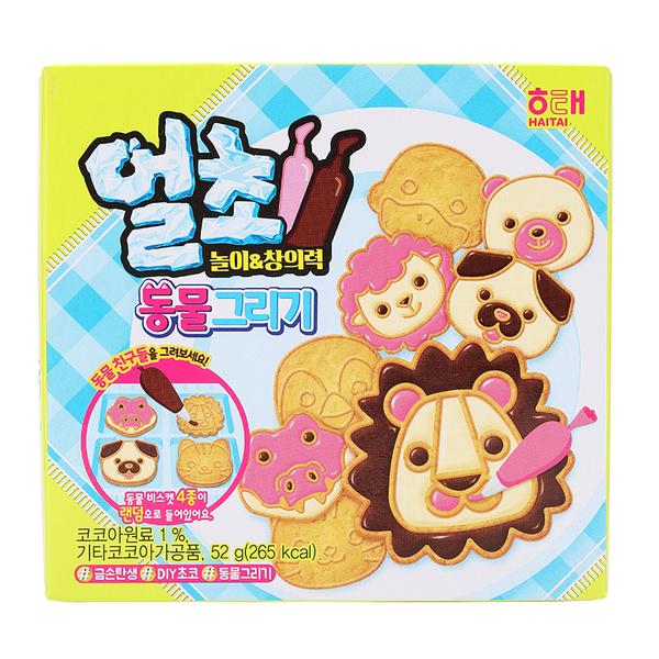韓國 HAITAI 海太DIY動物造型餅乾 52g【庫奇小舖】