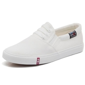 春季新款帆布鞋平底韓版百搭白鞋一腳蹬女鞋懶人小白夏季布鞋