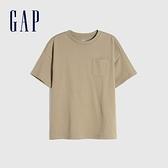 Gap男童 純棉基本款圓領短袖T恤 785201-深卡其