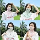 夏季防曬口罩女護頸防紫外線夏天薄款透氣冰絲面罩遮全臉遮臉面紗  【端午節特惠】