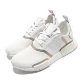 adidas 休閒鞋 NMD_R1 W 白 銀 女鞋 Boosr 襪套式 運動鞋 【ACS】 FV1797