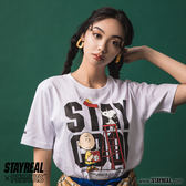 STAYREAL X PEANUTS STAY COOL史努比文字T