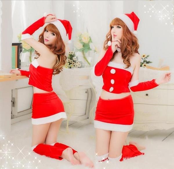 聖誕節衣服 聖誕節服裝女衣服老人套裝裙子性感演出服舞臺服主題制服可愛成人 維多原創