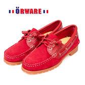 ORWARE-「超柔軟」MIT變形雷根鞋/女款 652022-09(紅)