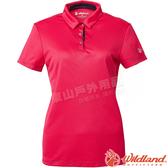 Wildland 荒野 0A61603-20玫瑰紅 女咖啡紗抗菌Polo上衣 抗UV/涼爽散熱/吸濕快乾/POLO衫/團體服