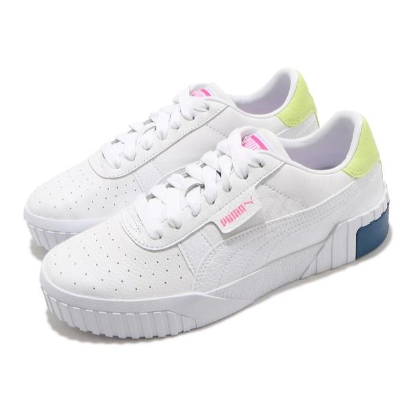 Puma 休閒鞋 Cali Wns 白 桃紅 黃 小白鞋 女鞋 基本百搭款 【ACS】 36915521