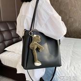 夏天女包包2020新款潮韓版百搭斜挎包大容量單肩包時尚洋氣托特包【小艾新品】