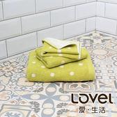 Lovel 專利咖啡紗除臭抗UV圓點3件組(浴巾/毛巾/方巾)-綠