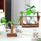 居家創意木架玻璃透明花瓶擺件裝飾【櫻田川島】