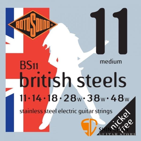 ROTOSOUND BS11 不銹鋼弦電吉他弦(11-48) 【英國製/電吉他弦/BS-11】