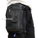 腿包新款韓版潮流腿包時尚胸包多功能腰包防水尼龍料輕便男士斜跨包 快速出貨