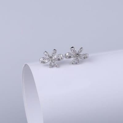 耳環 925純銀鑲鑽-精緻迷人情人節生日禮物女飾品73hk48[時尚巴黎]