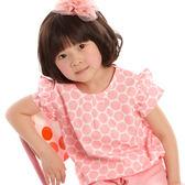 【愛的世界】純棉荷葉領半袖上衣/1~4歲-台灣製- ★春夏上著 特別推薦