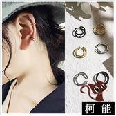 耳環【7956】氣質簡約個性清新耳夾耳環
