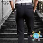 (中秋大放價)西褲夏季薄款休閒褲男士直筒小腳商務西褲黑色褲子男新品長褲