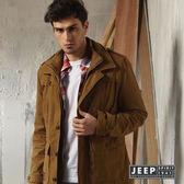 【JEEP】城市獵人排釦造型鋪棉外套 (深卡其)