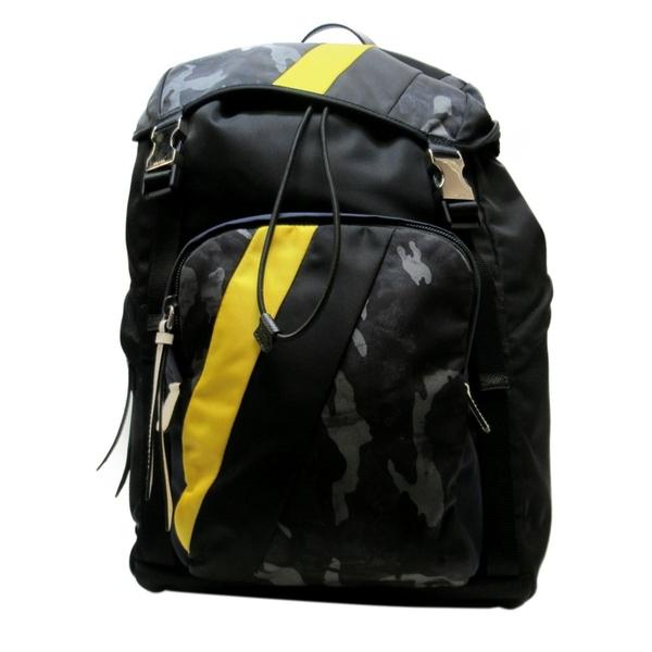 PRADA 普拉達 藍黑迷彩後背包 Camouflage Backpack 2VZ135【二手名牌BRAND OFF】