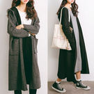 (現貨)大口袋連帽長版寬鬆針織外套-2色【UG868】Minuet
