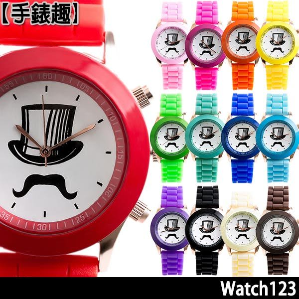 禮帽馬卡龍 爆款輕甜時尚果凍腕錶-38mm (共14色可選)