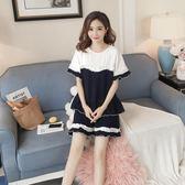 睡衣 夏季套裝短袖兩件套純棉可愛寬松薄款全棉家居服 巴黎春天