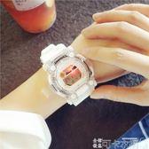 手錶 電子手錶女中學生韓版簡約時尚 ulzzang運動數字式糖果色學院風 可卡衣櫃